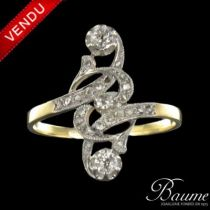 Bague diamants marquise