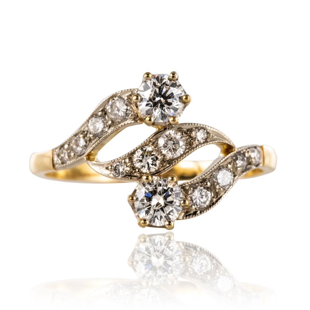 Bague diamants motif ajouré