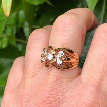 Bague Diamants Ors rose et blanc
