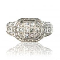 Bague diamants princesses
