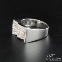 Bague diamants style Art déco