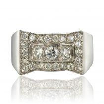 Bague diamants style Art déco