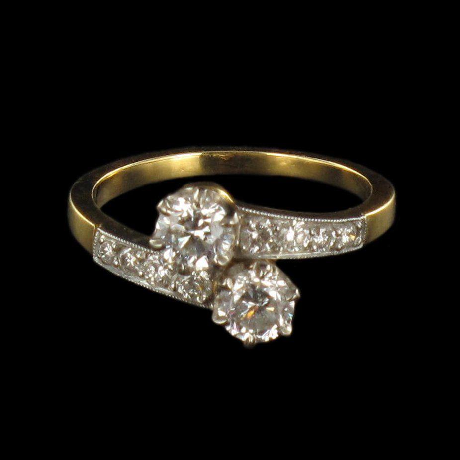 Bague Diamants toi et moi G 13