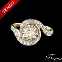 Bague diamants tourbillon