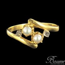 Bague en or, perles et diamants