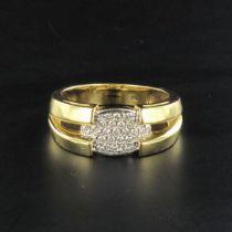 Bague en or et pavage diamants