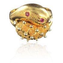 Bague en or et rubis