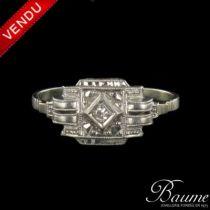 Bague en platine et diamant