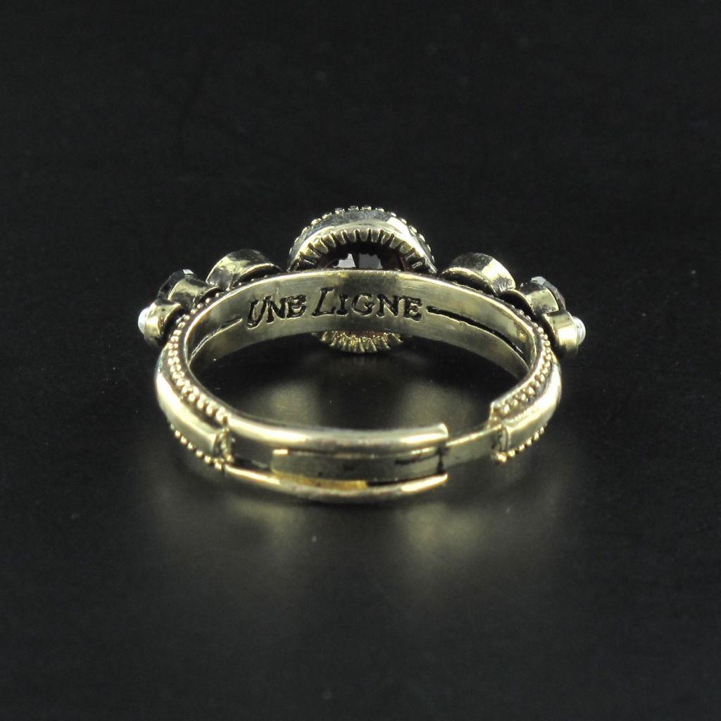 Bague fantaisie Cristaux de Swarovski et perles