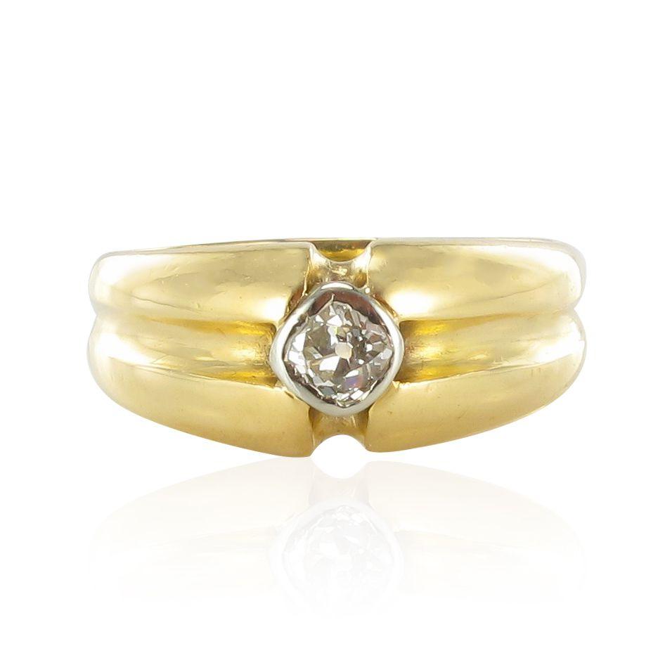 bague homme ancienne diamant bijouxbaume. Black Bedroom Furniture Sets. Home Design Ideas