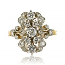 Bague jardin diamants