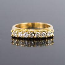 Bague jarretière diamants or jaune