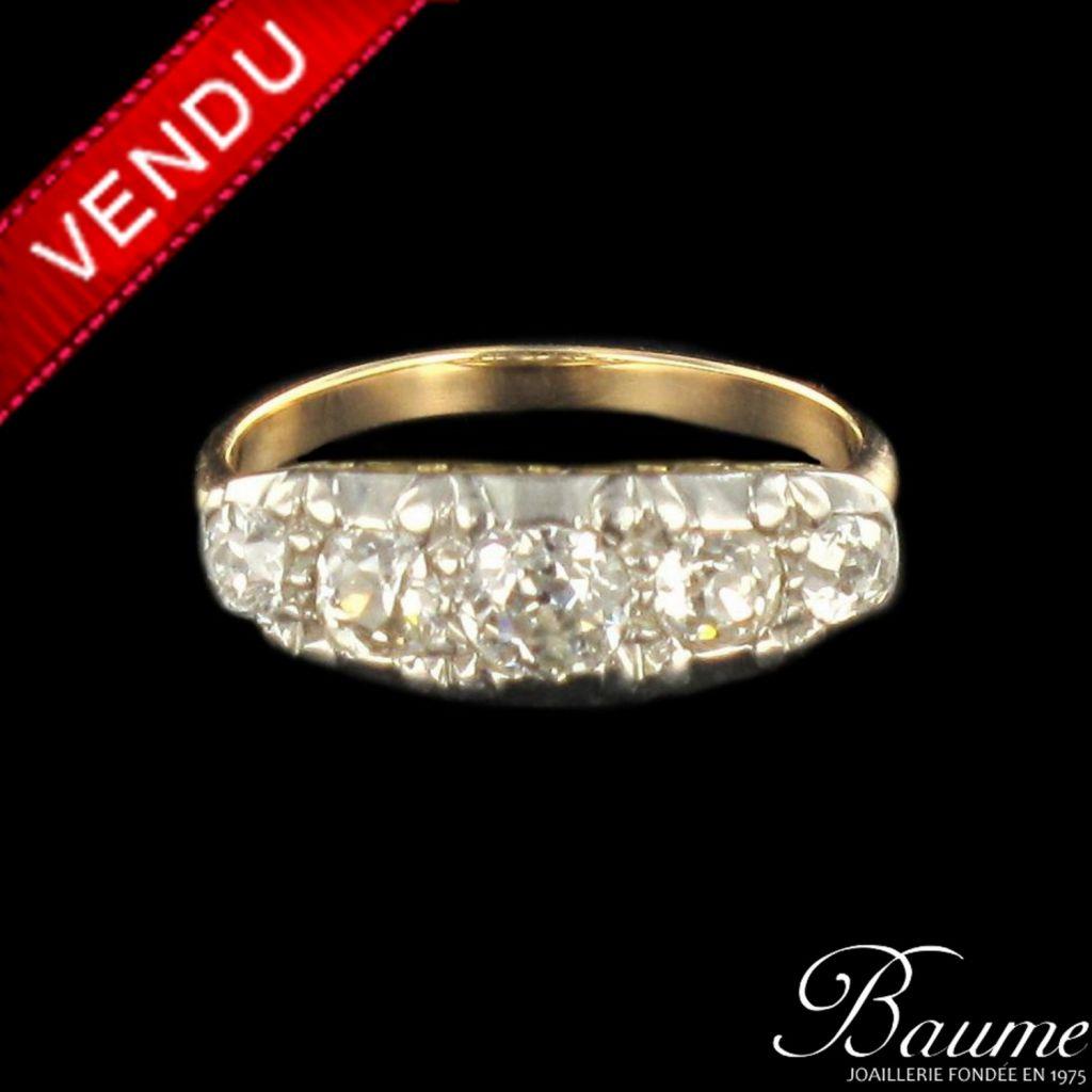 Bague jarretière diamants