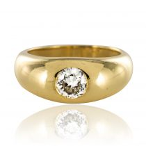 Bague jonc diamant or jaune