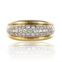 Bague jonc diamants brillants