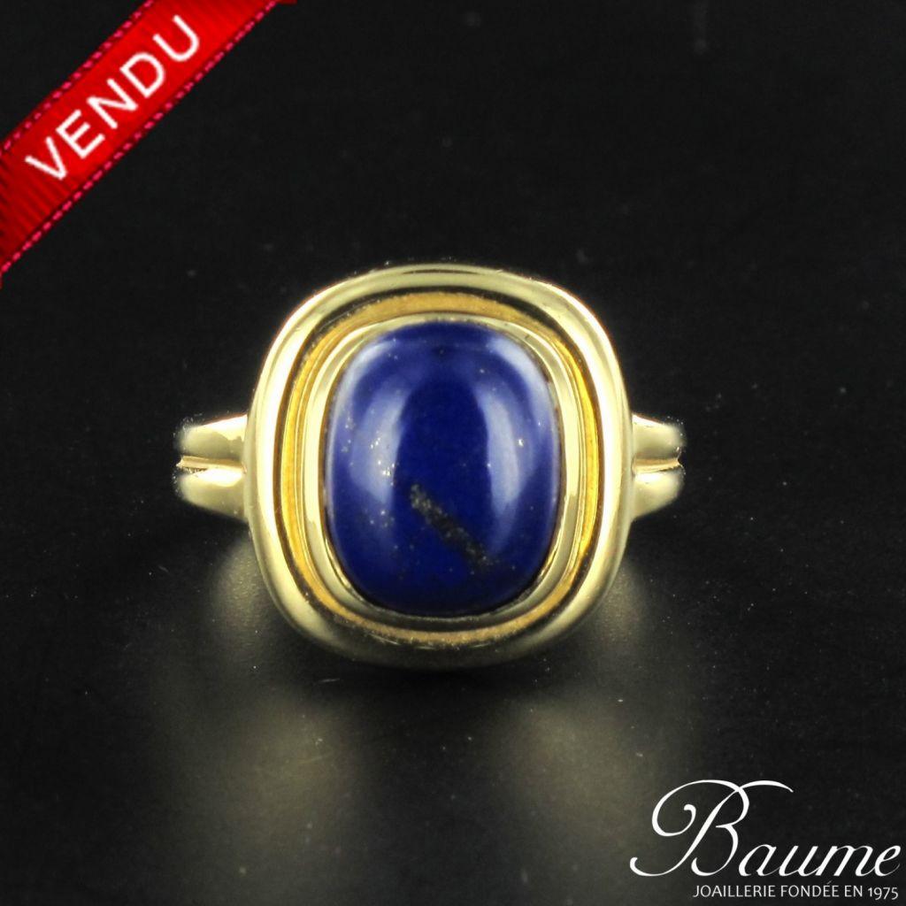 Bague lapis lazuli en or