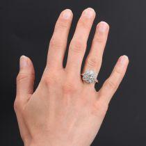 Bague marguerite diamants or platine