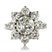Bague marguerite diamants vintage