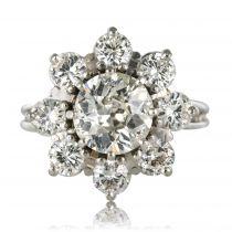Bague marguerite diamants vintage