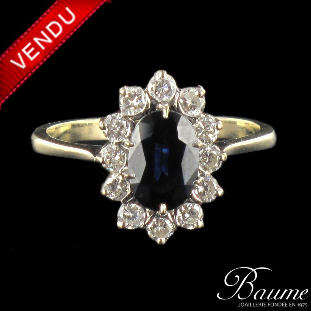 bague diamant saphir occasion