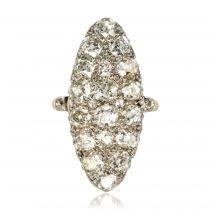 Bague marquise ancienne Diamants