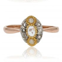 Bague marquise ancienne