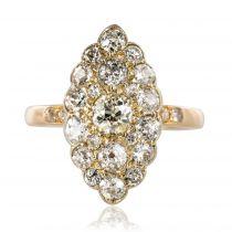 Bague marquise diamants ancienne