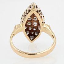 Bague marquise diamants vintage