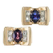 Bague Mellerio dits Meller Tank Saphir Color Change et Diamants
