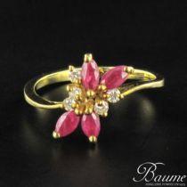Bague occasion rubis diamants