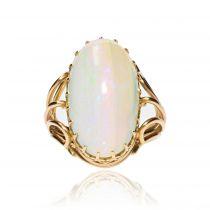 Bague opale et or jaune vintage