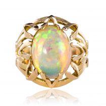 Bague opale vintage en or