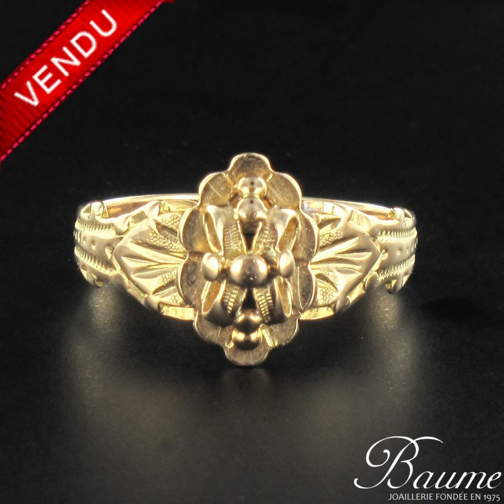 Bague or rose ancienne