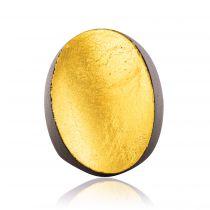 Bague ovale en ébène