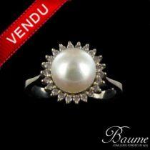 Bague Perle et Diamants