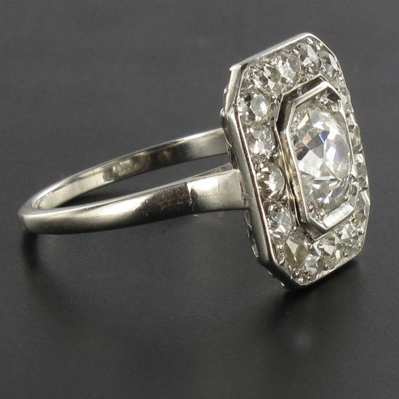 bague platine diamant art d co bijoux anciens art d co bijouxbaume. Black Bedroom Furniture Sets. Home Design Ideas