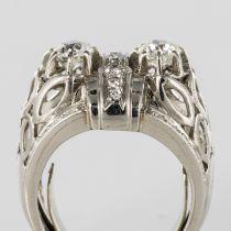 Bague platine diamants art déco