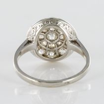 Bague ronde plate diamants taille ancienne