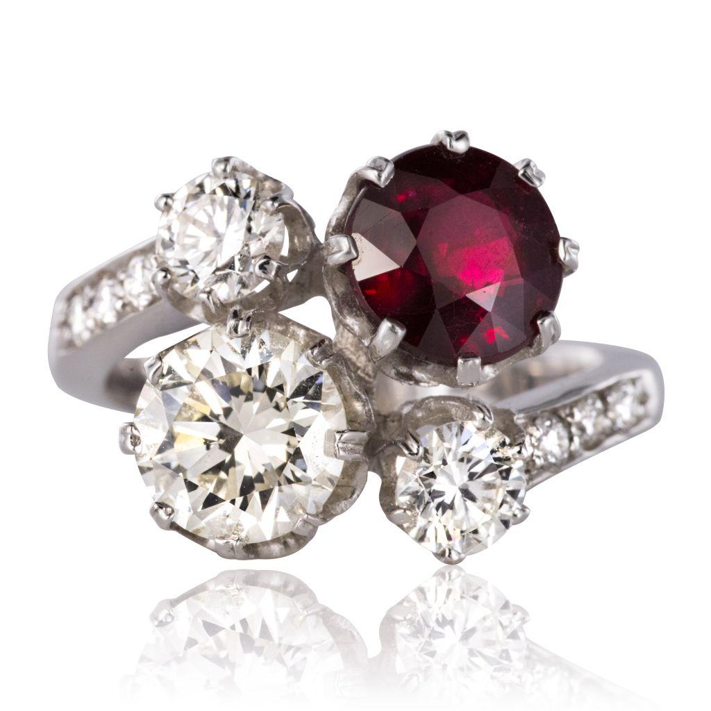 bague diamant rubis