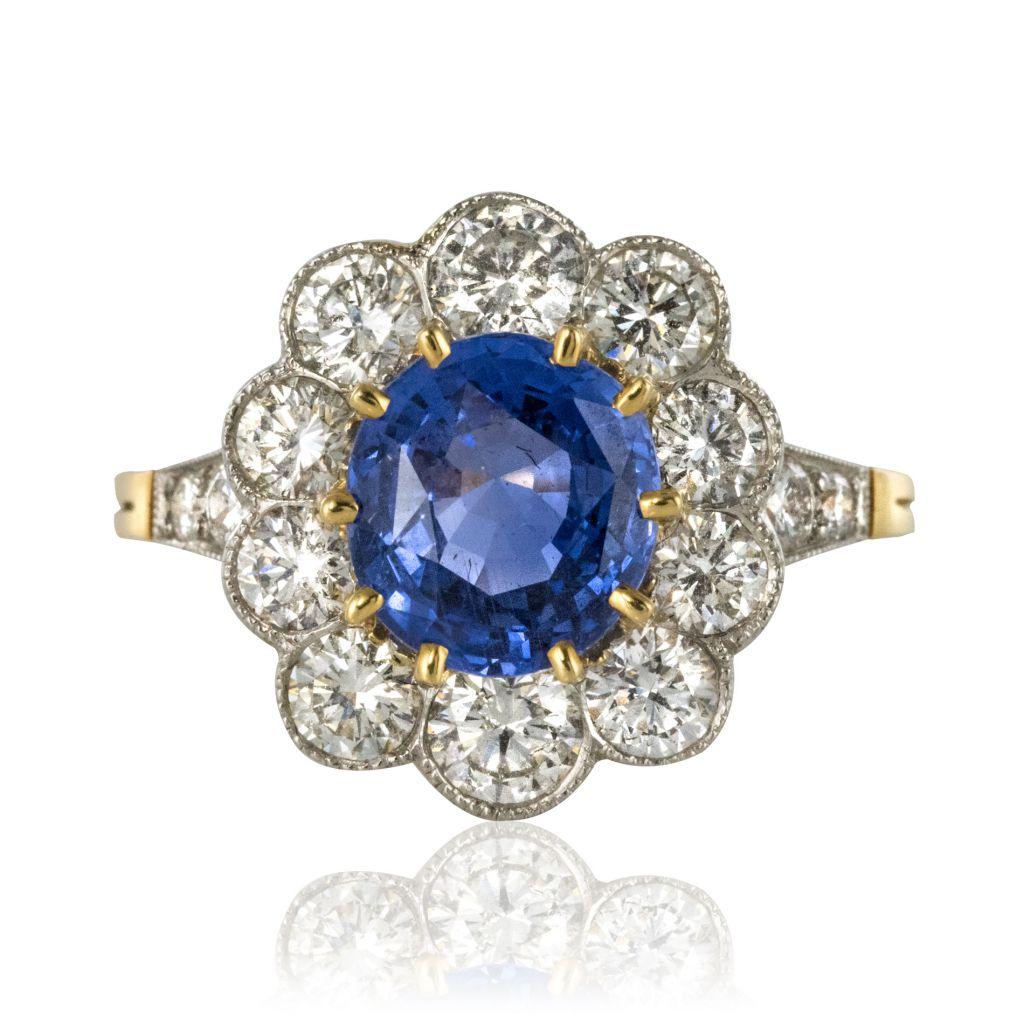 bague diamant sapphire