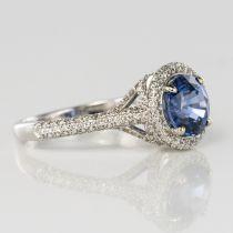 Bague saphir de ceylan et diamants