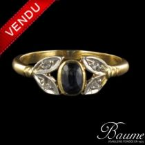 Bague saphir et diamants 1900