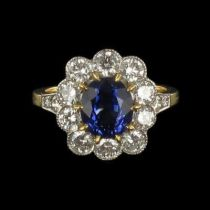 Bague Saphir et Diamants marguerite G 7