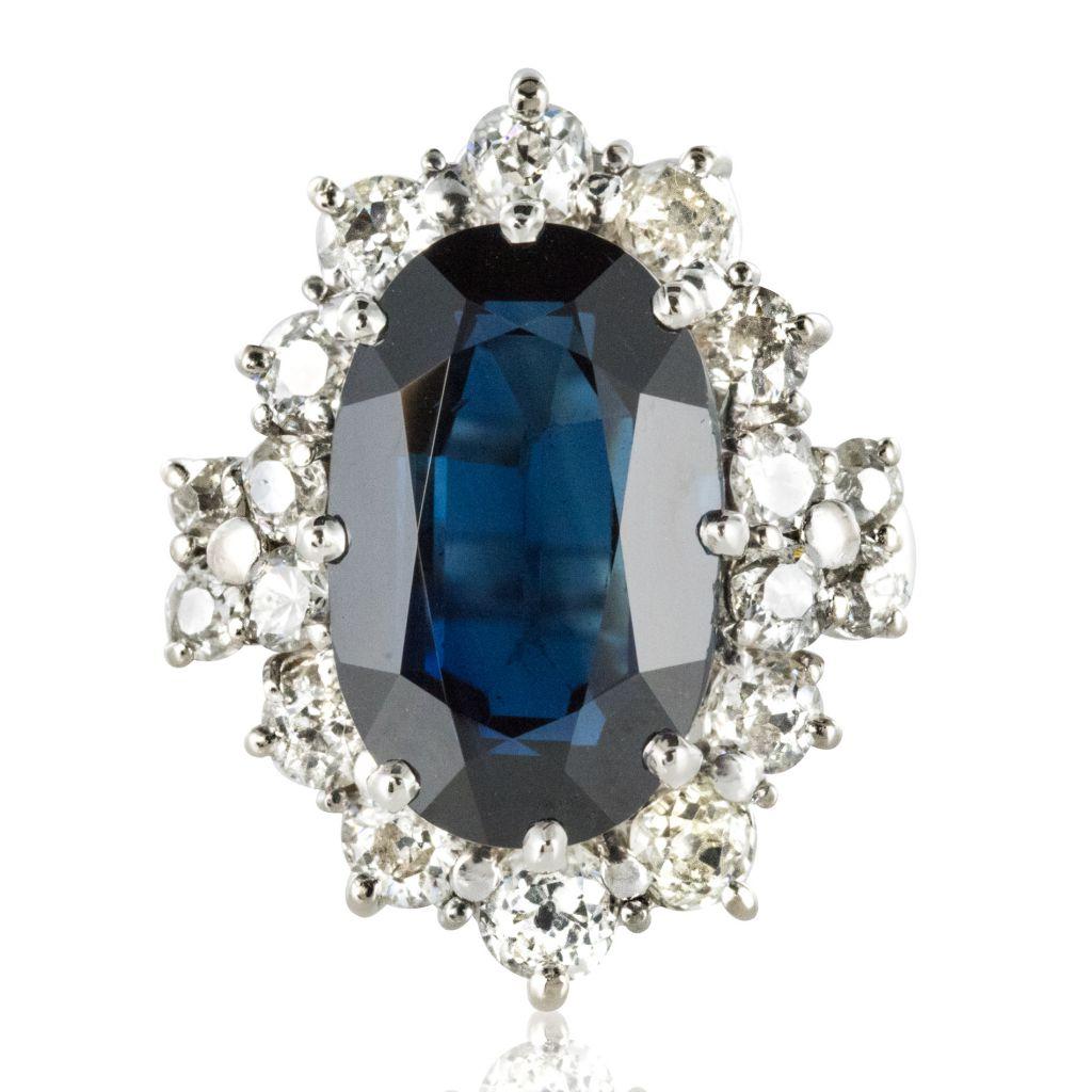 Bague saphir et diamants Pompadour