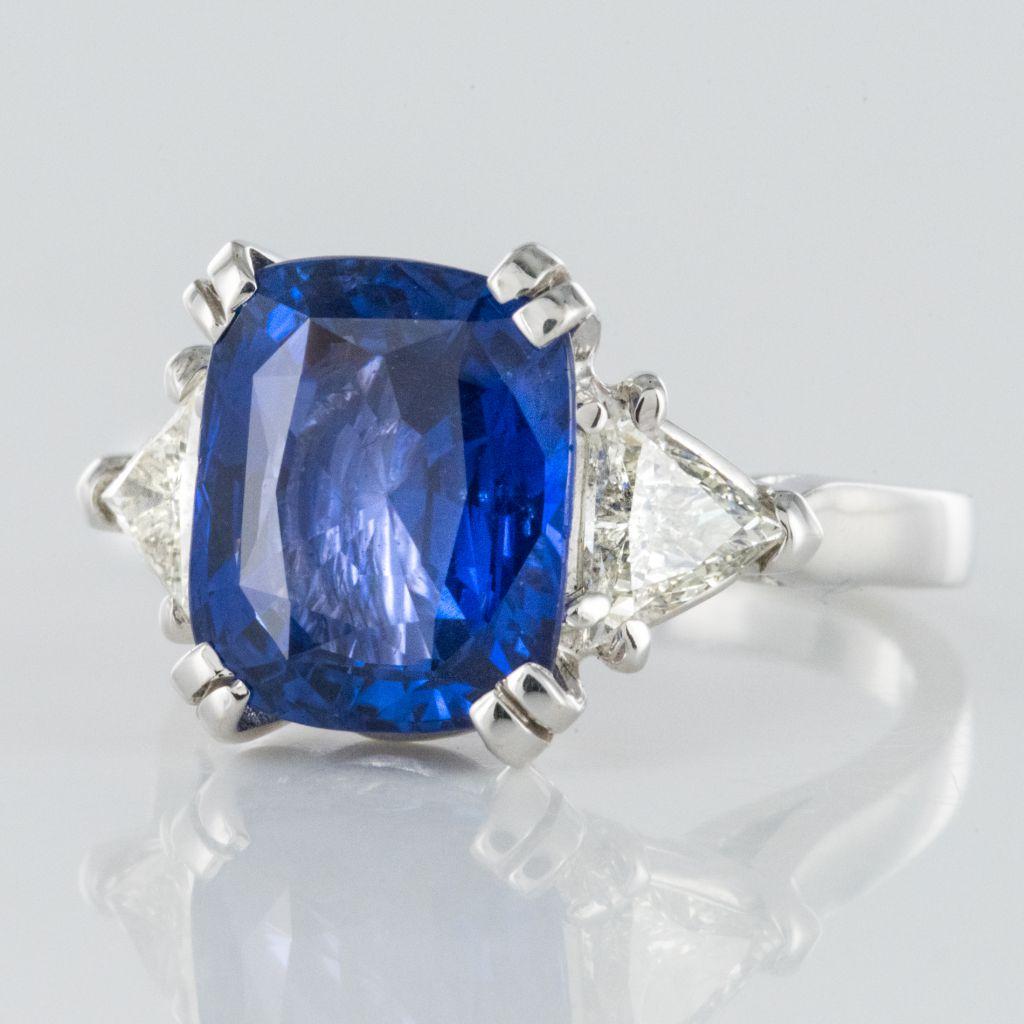 Bague Saphir et Diamants troïdia