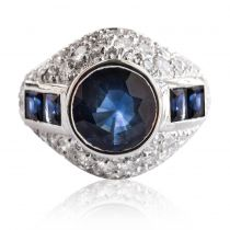 Bague Saphirs et Diamants