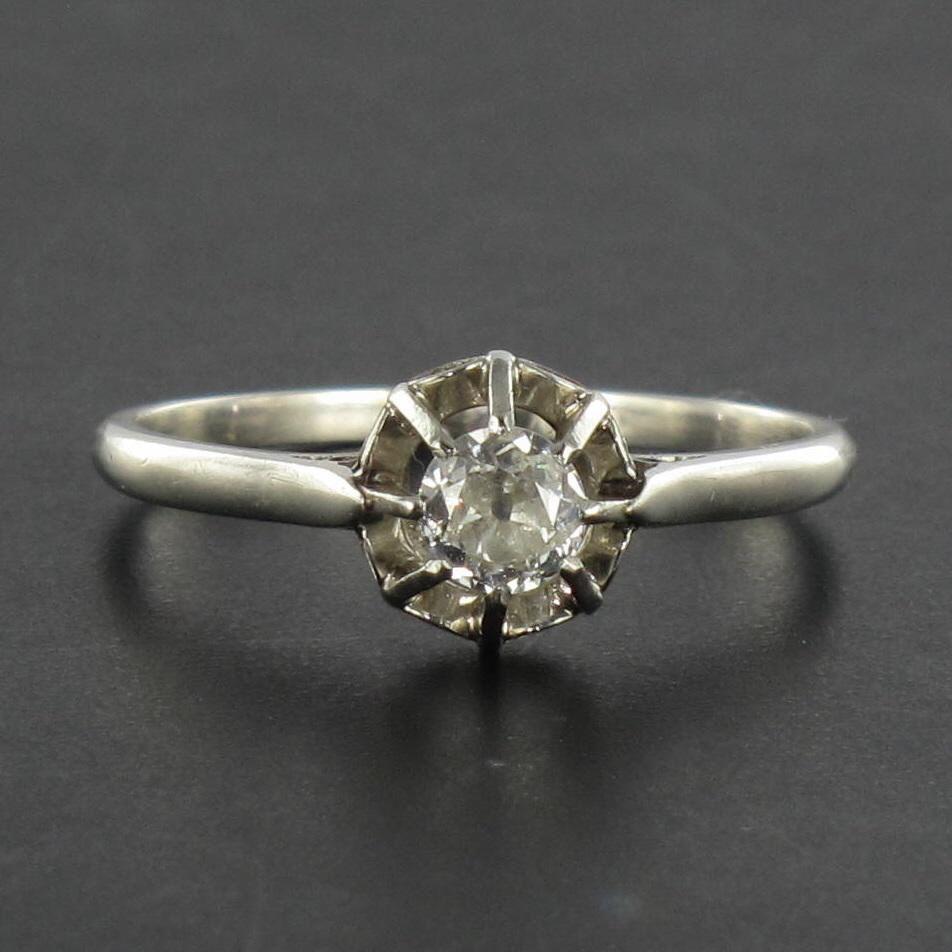 Bague solitaire diamant ancienne