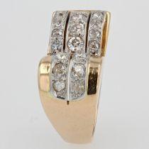 Bague tank diamants asymétrique