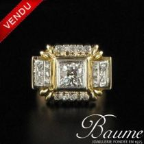 Bague tank Diamants