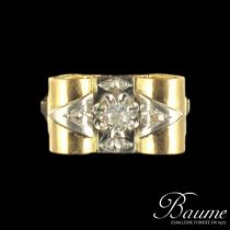 Bague tank en diamants
